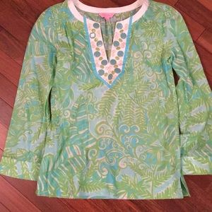 Lilly pulitzer tunic beaded
